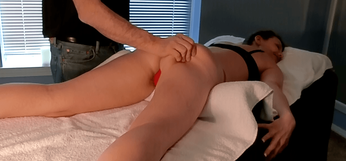 Female Ass Massage by Male Therapist
